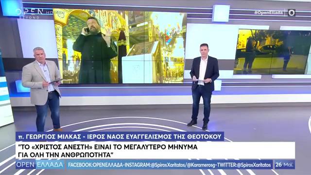 Πατήρ Γεώργιος Μίλκας: «Χριστός Ανέστη» το μεγαλύτερο μήνυμα για όλη την ανθρωπότητα (VIDEO  -  26/05/2020)