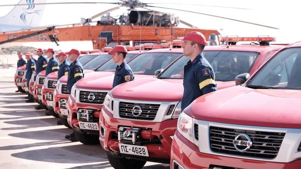 Παπαστράτος: Δωρεά οχημάτων αξίας 1 εκατομμυρίου Ευρώ στην Ελληνική Πυροσβεστική
