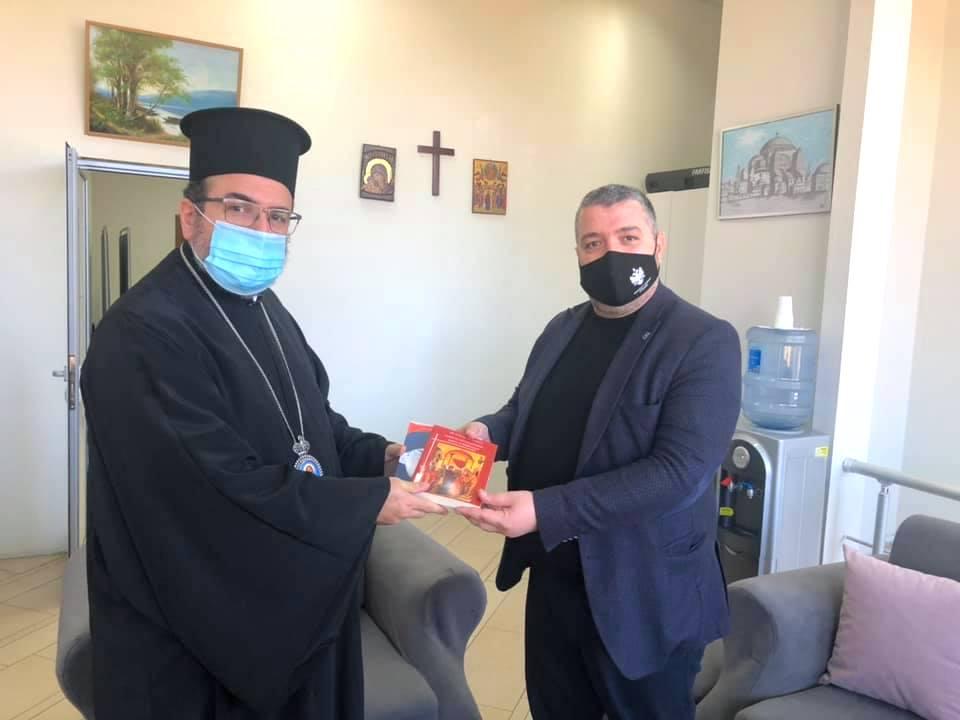 Στον Σεβασμιώτατο Μητροπολίτη Ελμπασάν  κ.κ. Αντώνιο ο Νέος Νομάρχης
