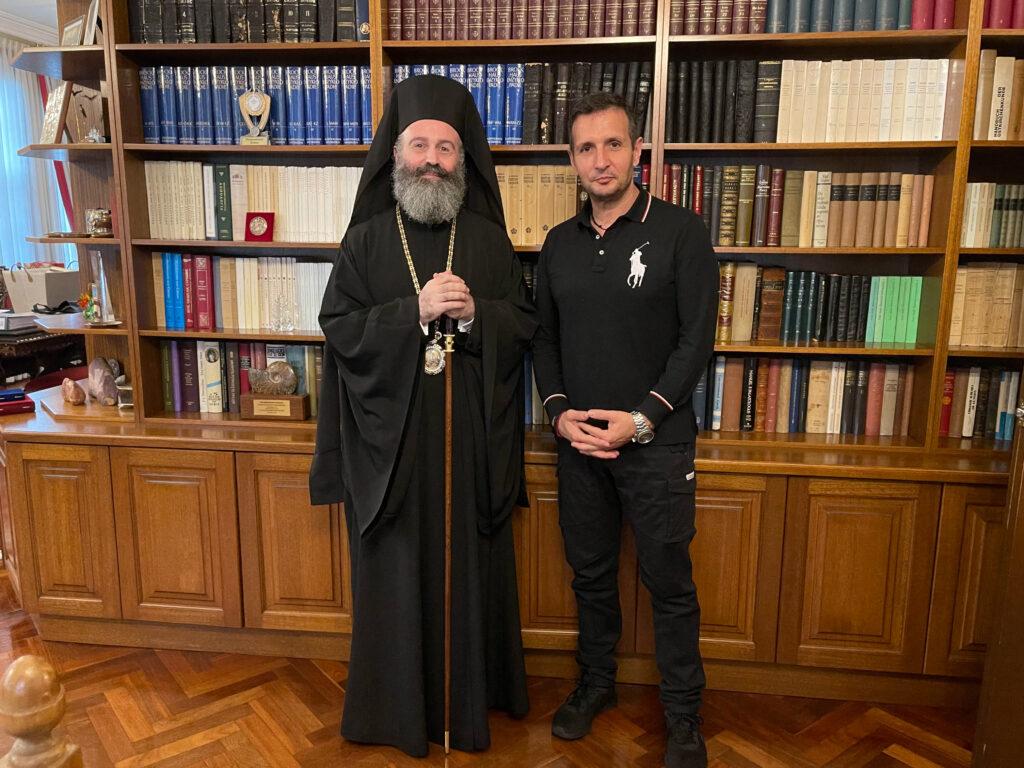 Επίσκεψη του γνωστού Τραγουδιστή Δημήτρη Μπάση στην Ιερά Αρχιεπισκοπή Αυστραλίας