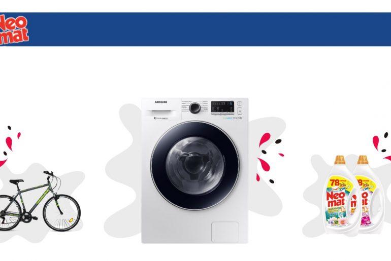 Διαγωνισμός Neomat με δώρο Πλυντήριο - Στεγνωτήριο, ποδήλατο και σετ προϊόντων