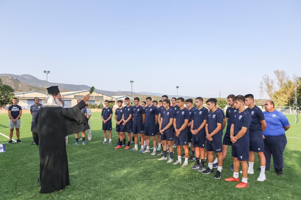Αγιασμός στο Ποδόσφαιρο και χαιρετισμός σε Παρουσίαση Βιβλίου για την Επανάσταση