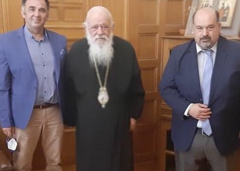 Το Νέο Προεδρείο της Ομοσπονδίας Συλλόγων Ιεροψαλτών Ελλάδος (ΟΜΣΙΕ) στον Μακαριώτατο Αρχιεπίσκοπο Αθηνών κ. Ιερώνυμο